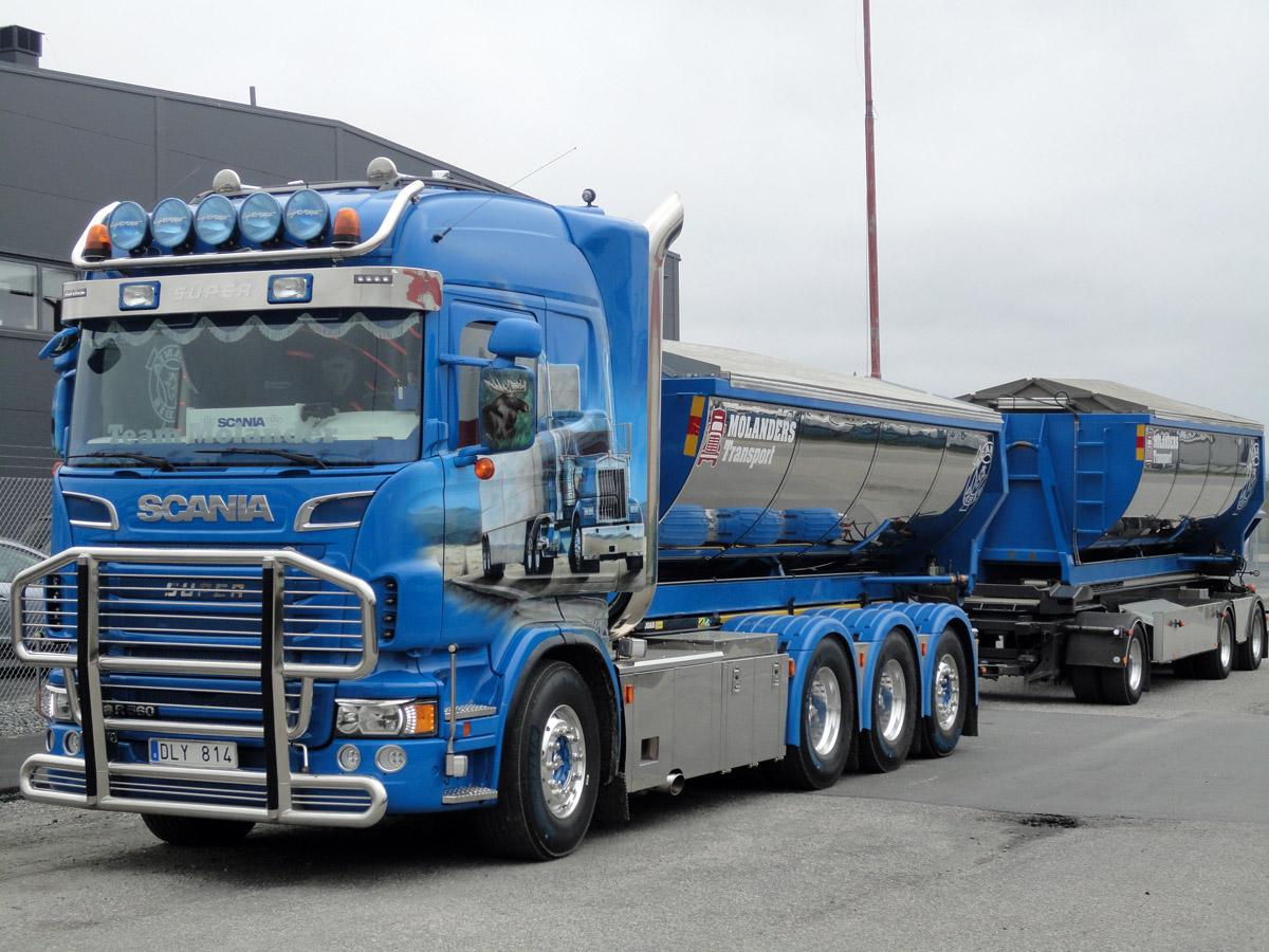 Scania R580 Es Ge Liefert Neue Scania 5 Achs Sattelzugmaschine An Kahl Scania R580 Topline